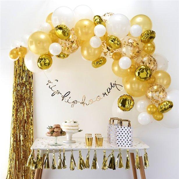 Arco de globos dorados - 70 globos 2