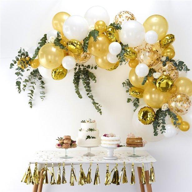 Arco de globos dorados - 70 globos 3