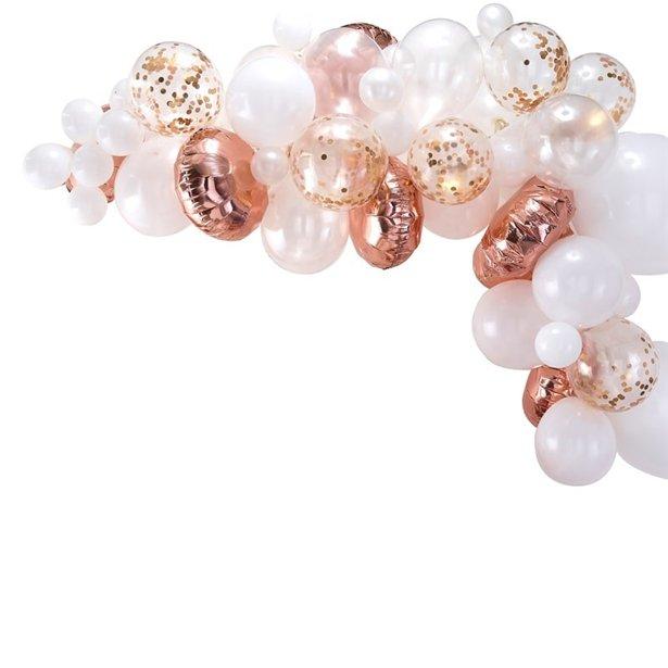 Arco de globos oro rosa - 70 globos 1