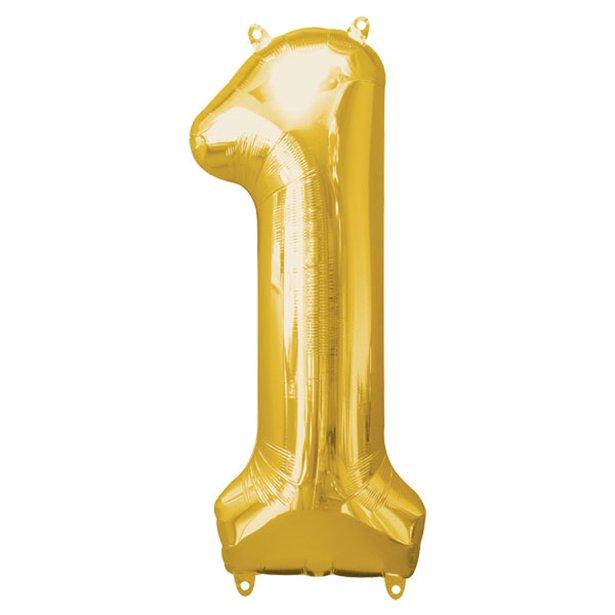 Globo de número dorado 86 cm 1