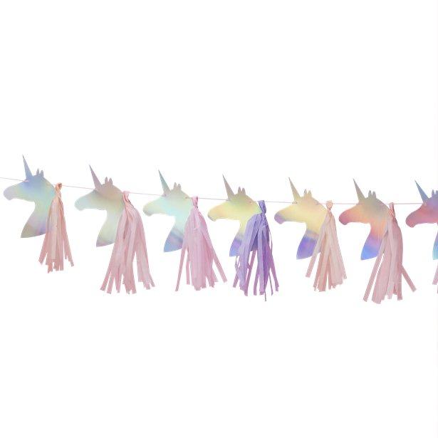 Guirnalda con Unicornios y Borlas - 1,5 m 1
