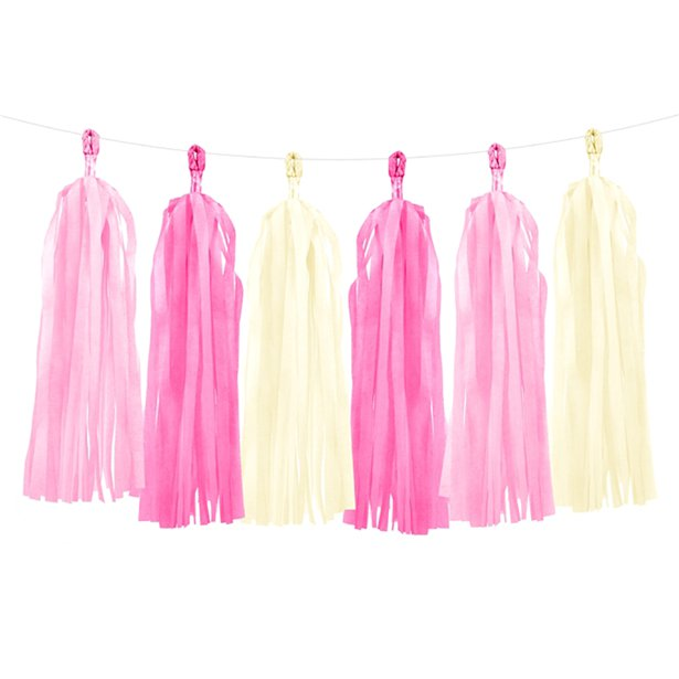Guirnalda decorativa de borlas en tonos rosas - 1,5 m 1