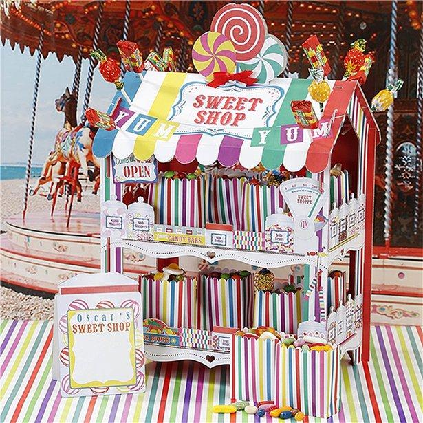 Stand tienda golosinas arcoíris 1