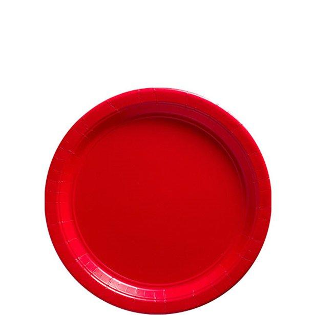 Platos rojos - 18 cm  (x8) 1