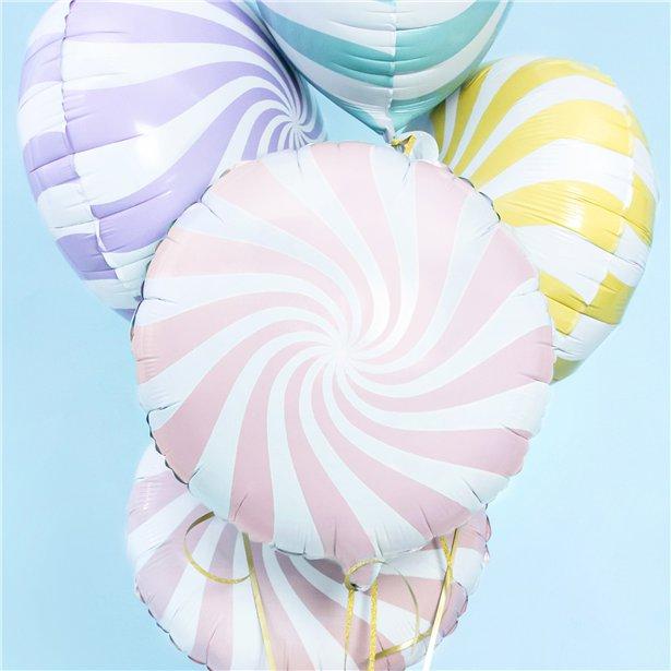 Globo candy rosa pastel - 46 cm 2