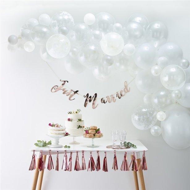Arco de globos blancos - 70 globos 2