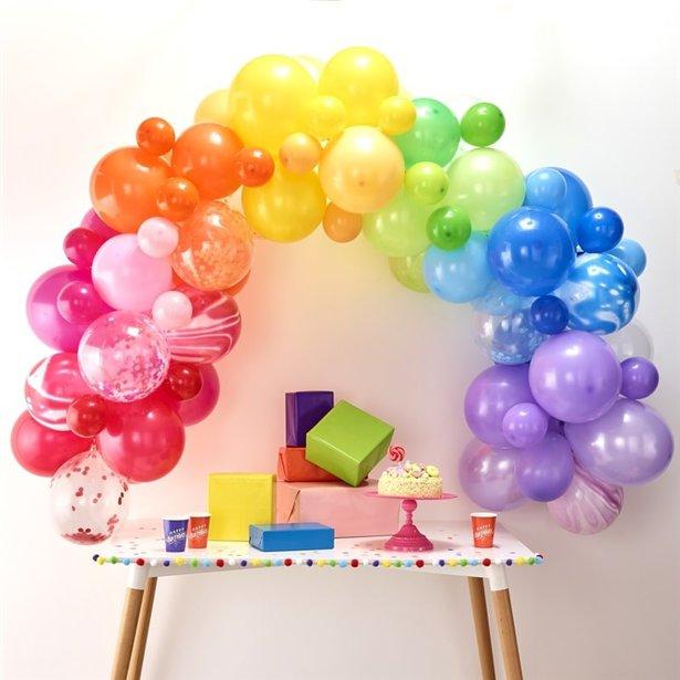 Arco de globos arcoiris - 85 globos 2