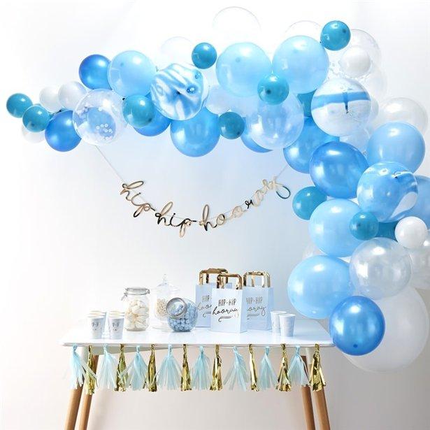 Arco de globos azules - 70 globos 2