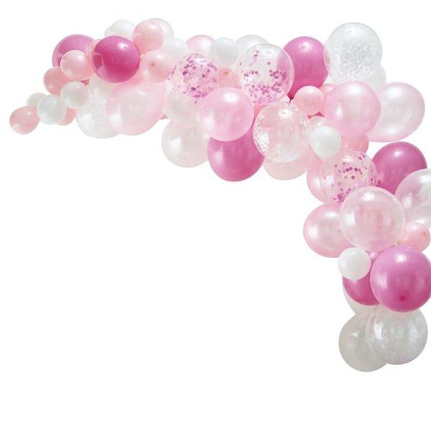 Arco de globos rosas - 70 globos 1