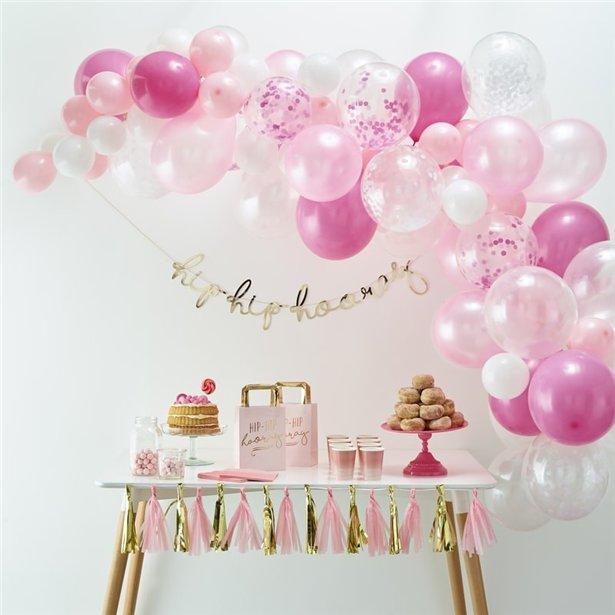 Arco de globos rosas - 70 globos 2