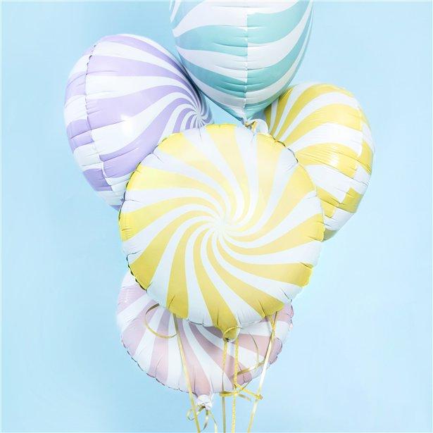 Globo candy amarillo pastel - 46 cm 3