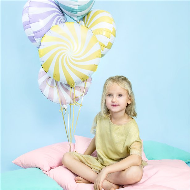 Globo candy amarillo pastel - 46 cm 2