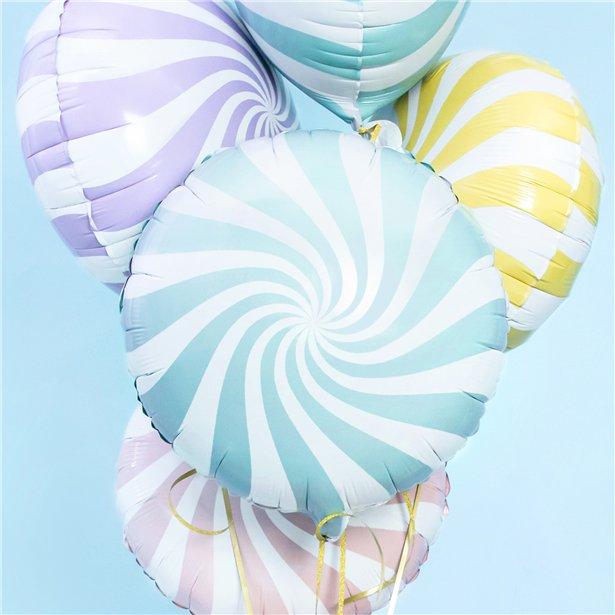 Globo candy azul claro - 46 cm 2