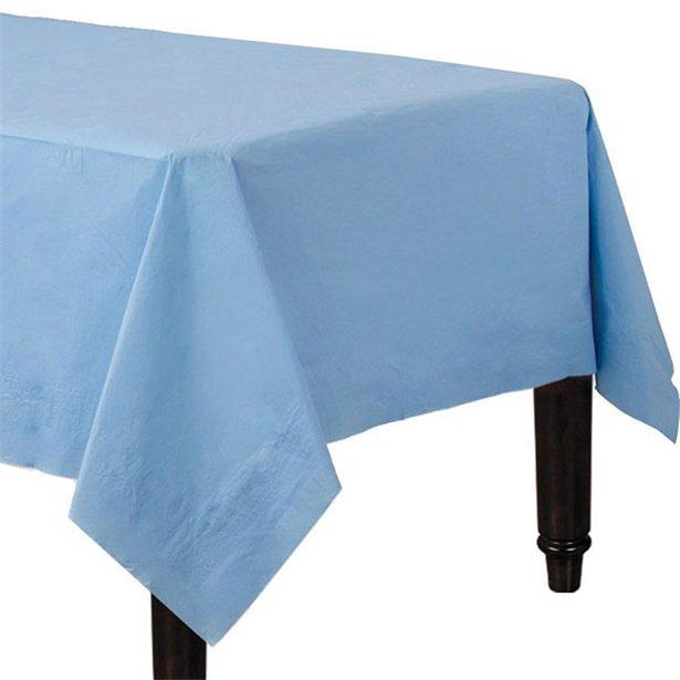 Mantel azul pastel de papel - 90 cm x 90 cm (x2) 1