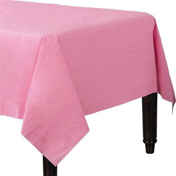 Mantel rosa de papel - 90 cm x 90 cm (x2) 1