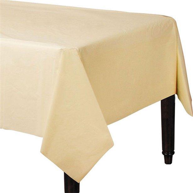 Mantel vainilla de papel - 90 cm x 90 cm (x2) 1