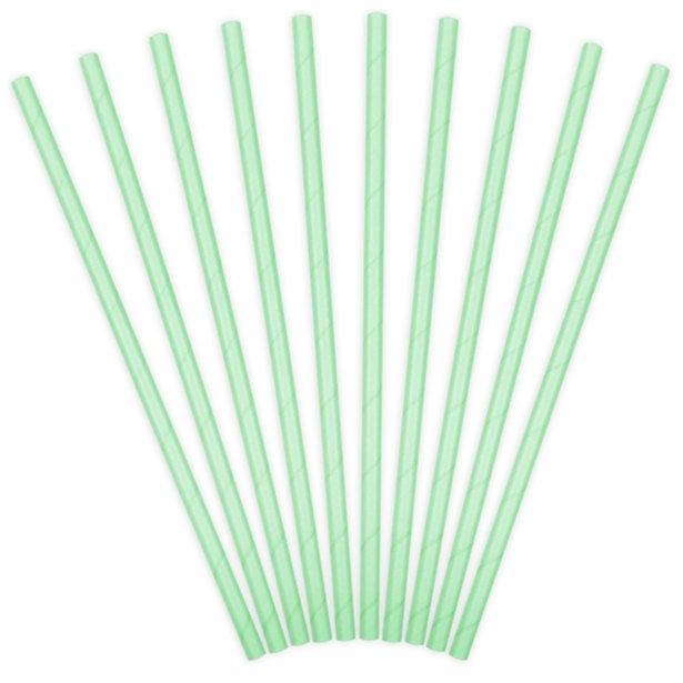 Pajitas de papel verde mint (x10) 1
