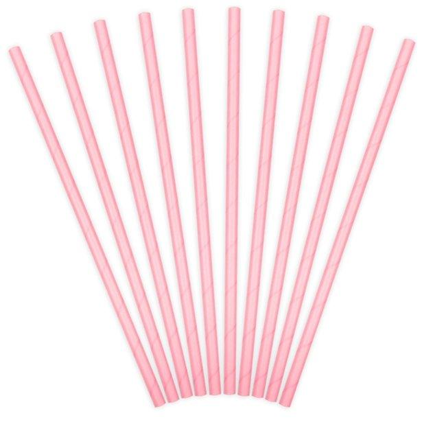 Pajitas de papel rosas (x10) 1