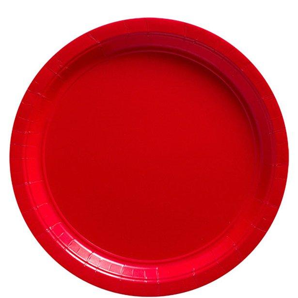 Platos rojos - 23 cm (x8) 1