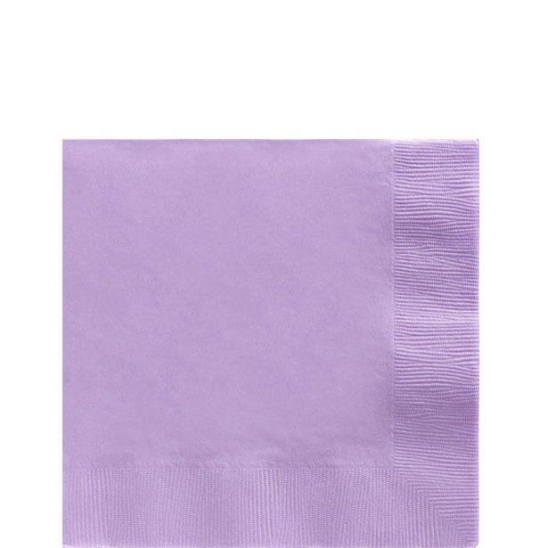 Servilletas lila - 25 cm (x50) 1
