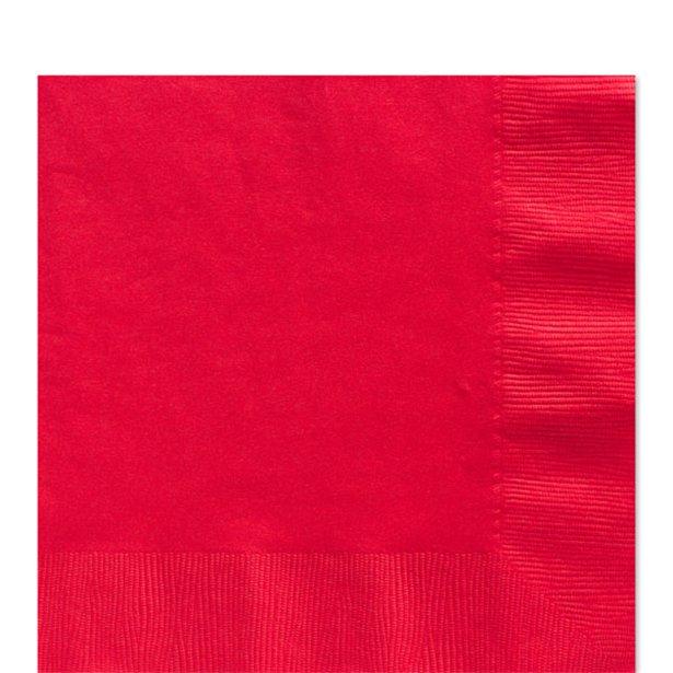 Servilletas rojas - 33 cm (x20) 1