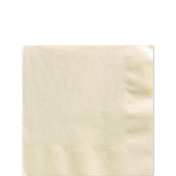 Servilletas vainilla - 25 cm (x50) 1