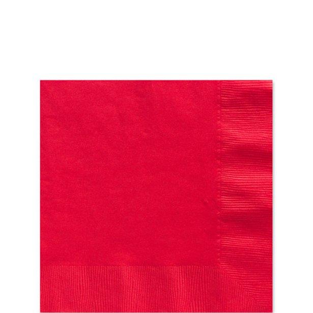 Servilletas rojas - 25 cm (x20) 1