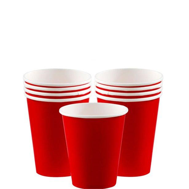 Vasos rojos - 266 ml (x8) 1